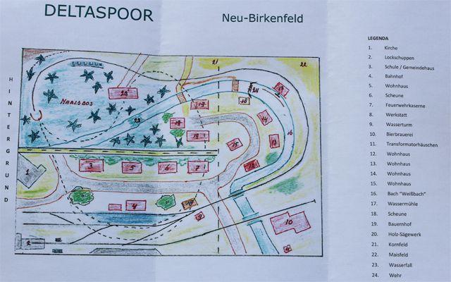 Gleisplan H0e Neu-Birkenfeld