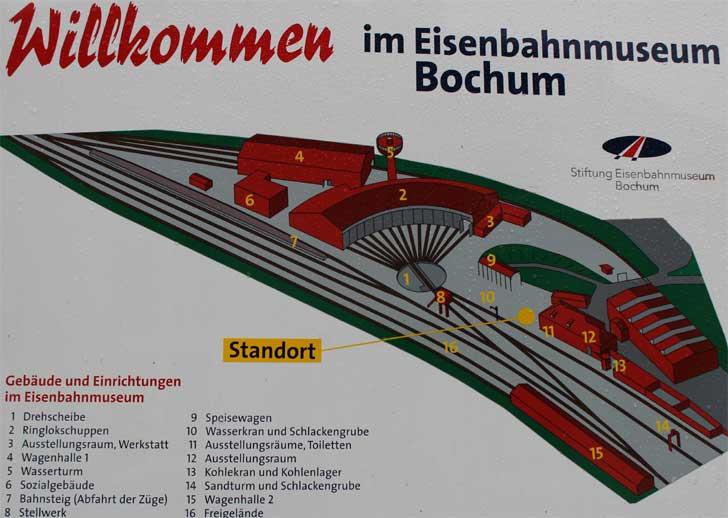 Eisenbahnmuseum Bochum - Übersichtsplan