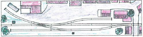 Gleisplan der Anlage Sendener Kreisbahn