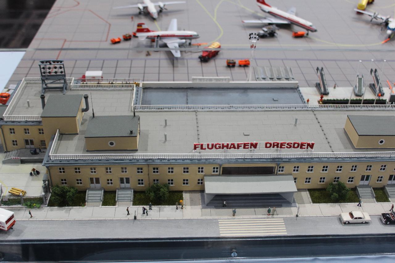 Diorama-Flughafen-Dresden