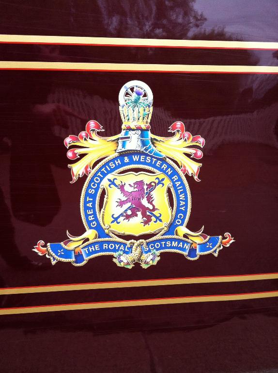 Das Wappen des Royal Scotsman