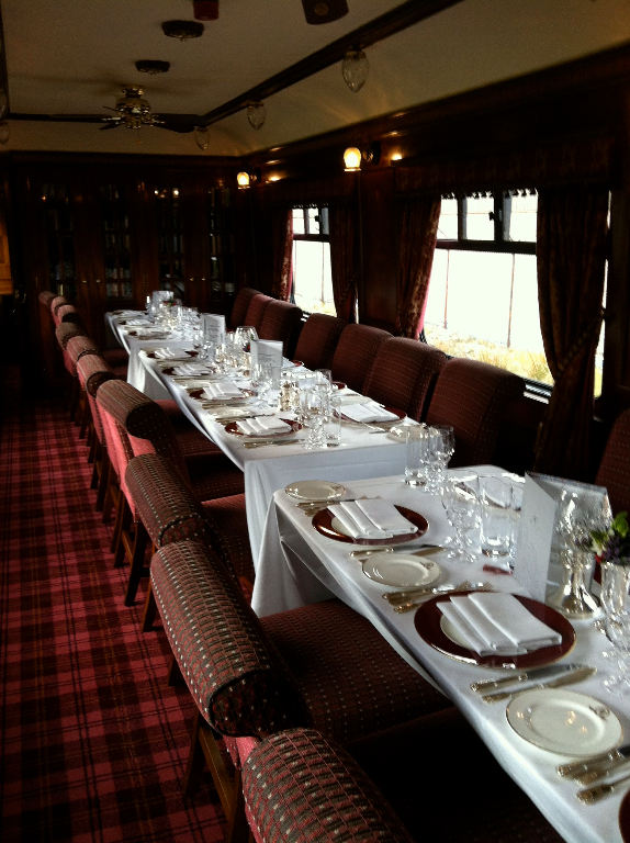 Royal Scotsman Dinnerroom
