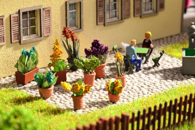 NOCH Art.Nr. 14011 Laser-Cut minis+ Zierpflanzen in Blumentöpfen
