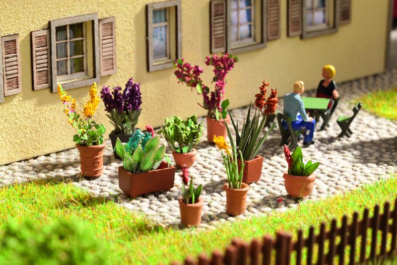 Art.Nr.NOCH 14012 Laser-Cut minis+ Zierpflanzen in Blumentöpfen