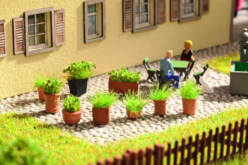 NOCH Art.Nr. 14032 Grünpflanzen in Blumentöpfen